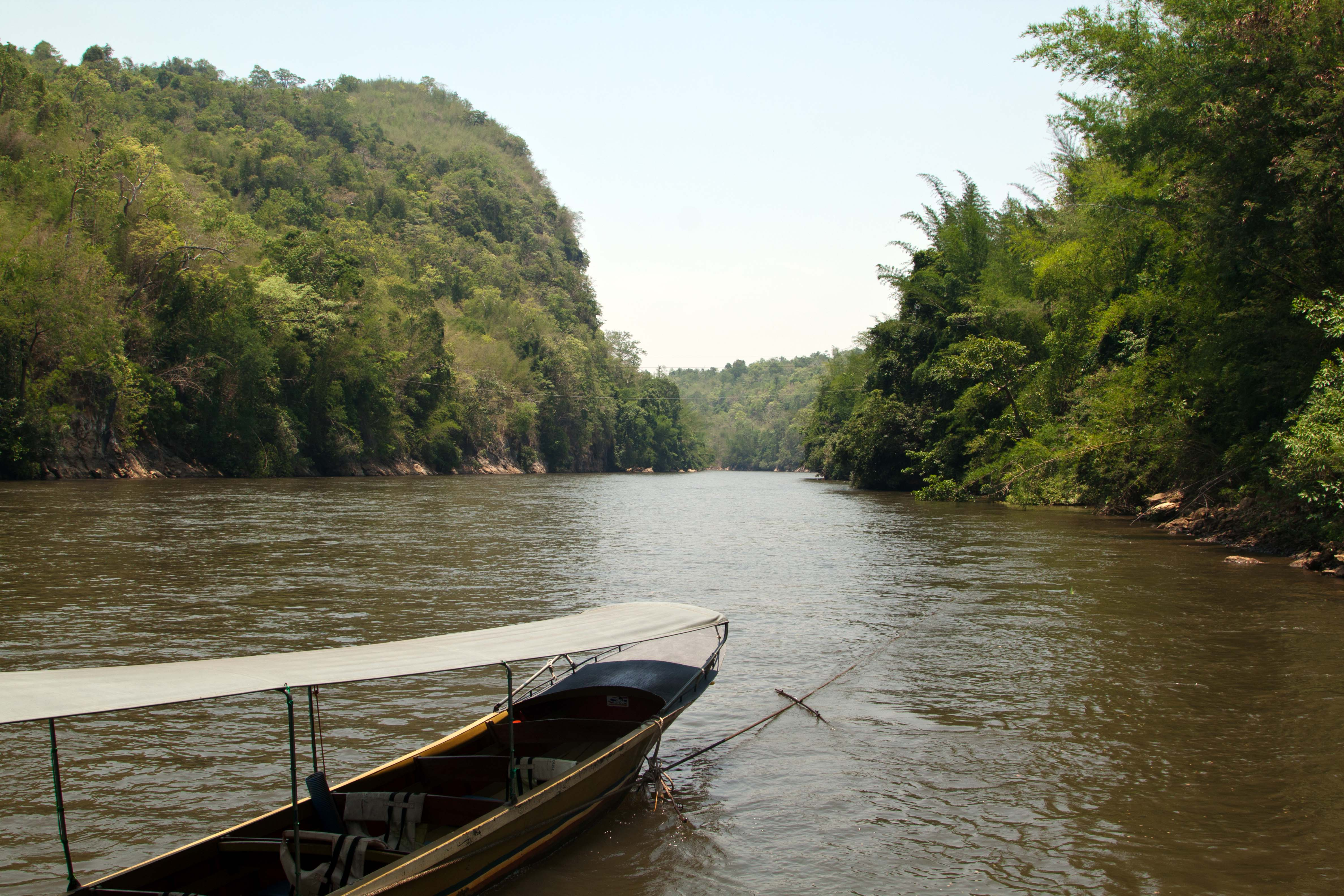 Anlegestelle Kwai River Yok Nationalpark River Kwai Jungle Lodge Thailand