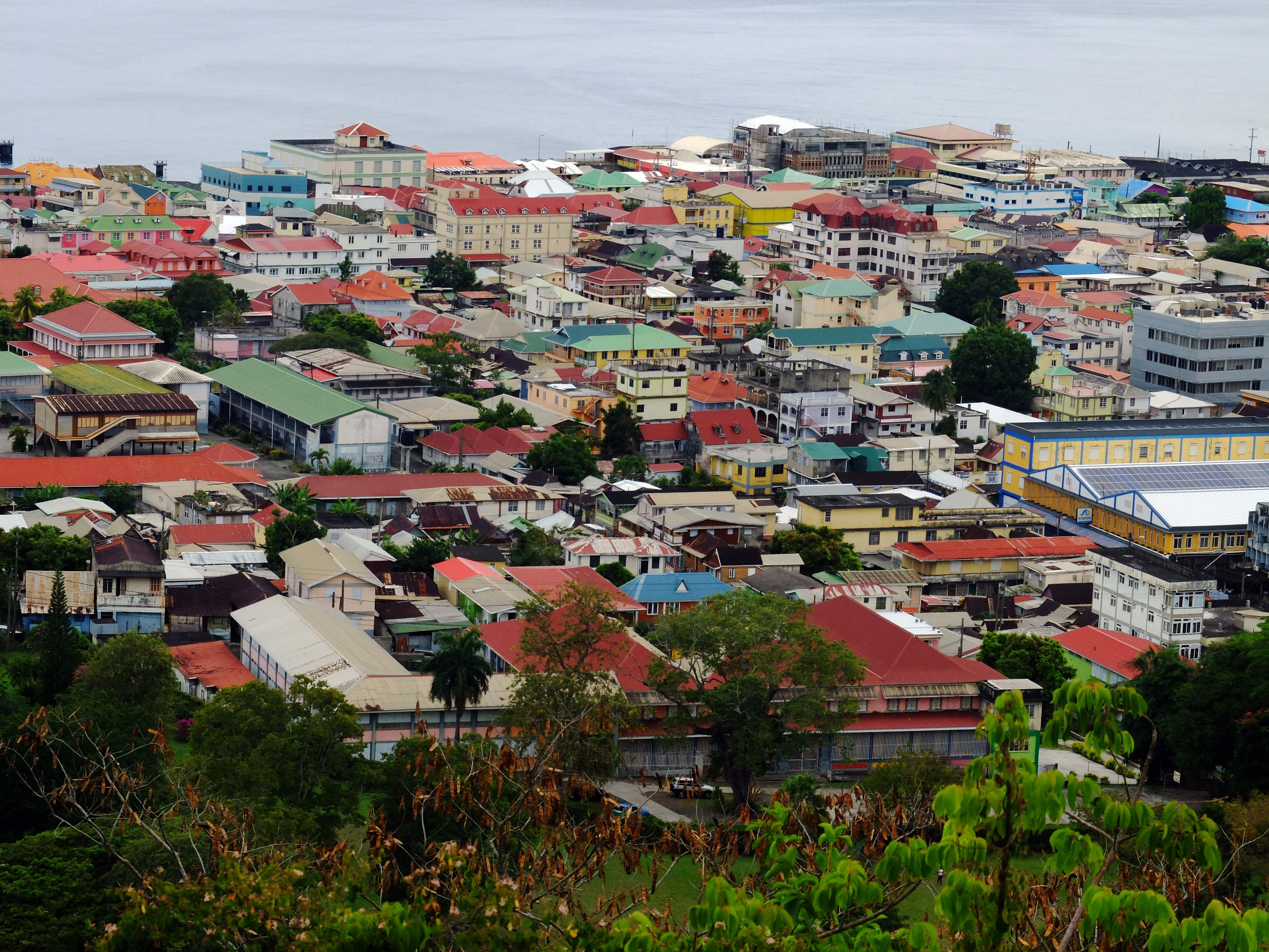 View of Roseau, Dominica, from Morne Bruce