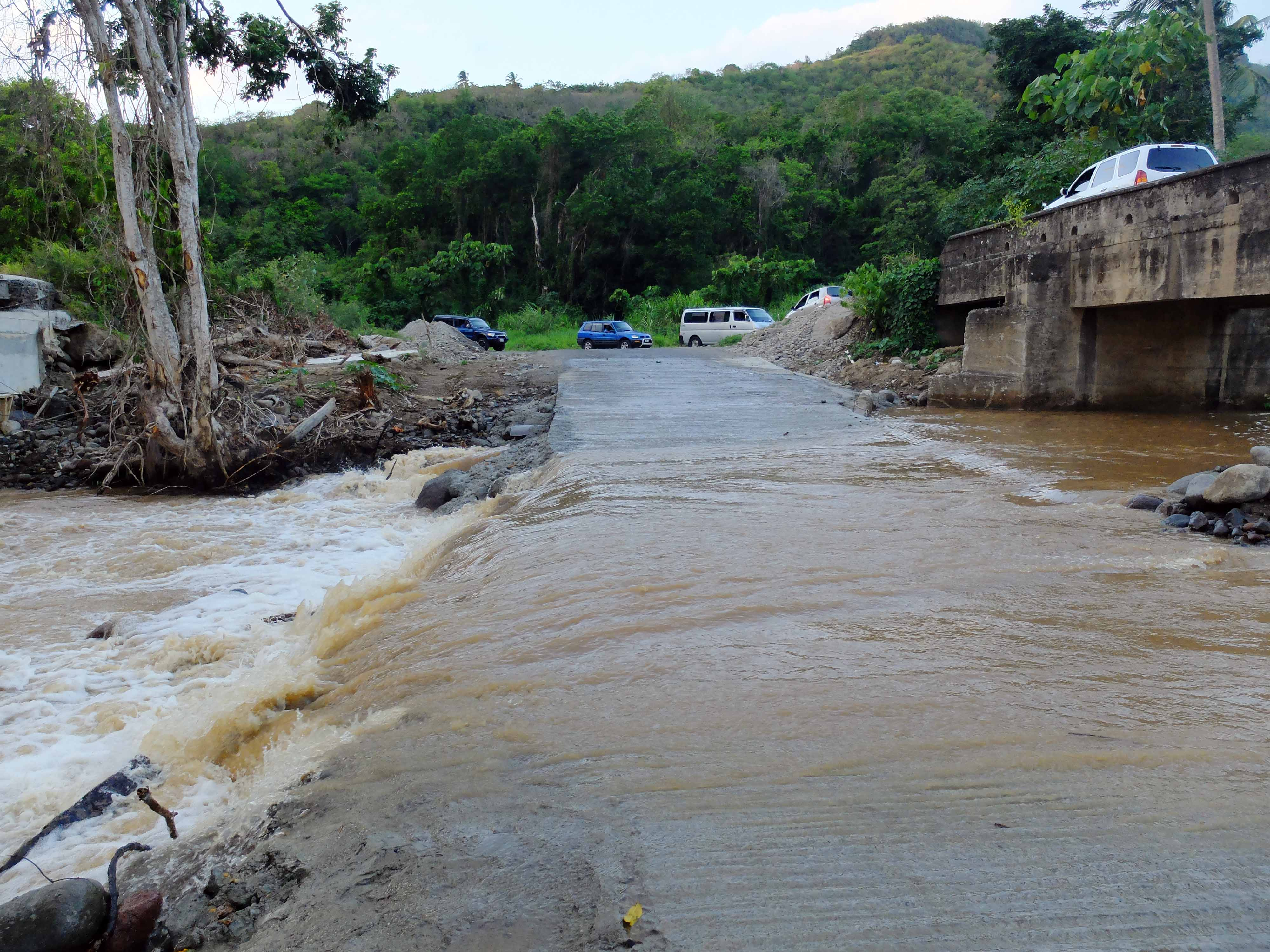 Flooded streets Dominica